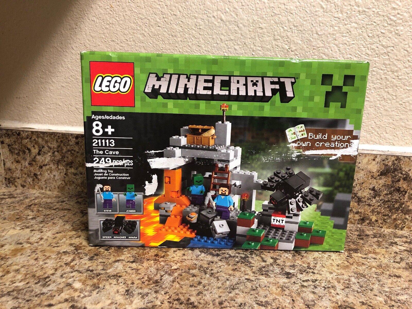 Lego Minecraft The Cave 21113 Classic Creative Supplement Big Lego Set Crafting