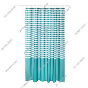 Image Is Loading IKEA VADSJON Vadsjon Turquoise White Striped Shower Curtain