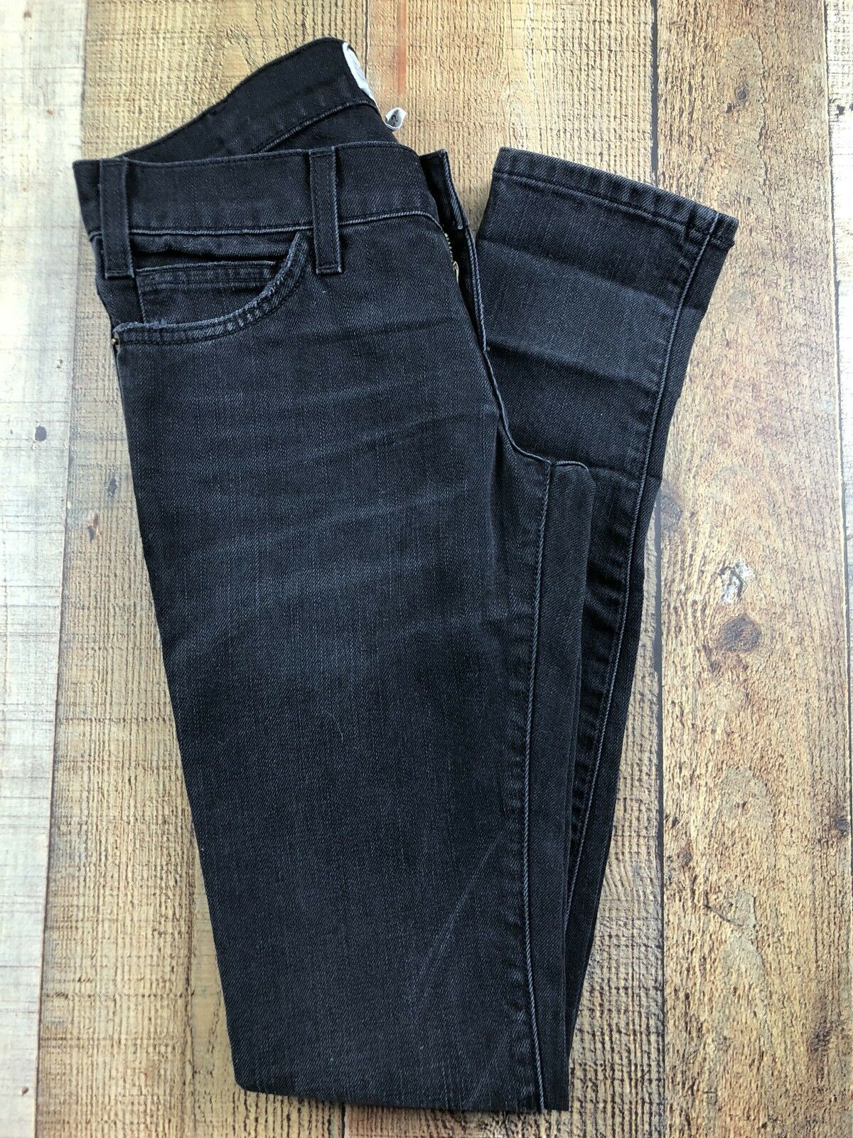 Current Elliott The Skinny Night Wash Low Rise Jeans Size 24-0. 27x32x7