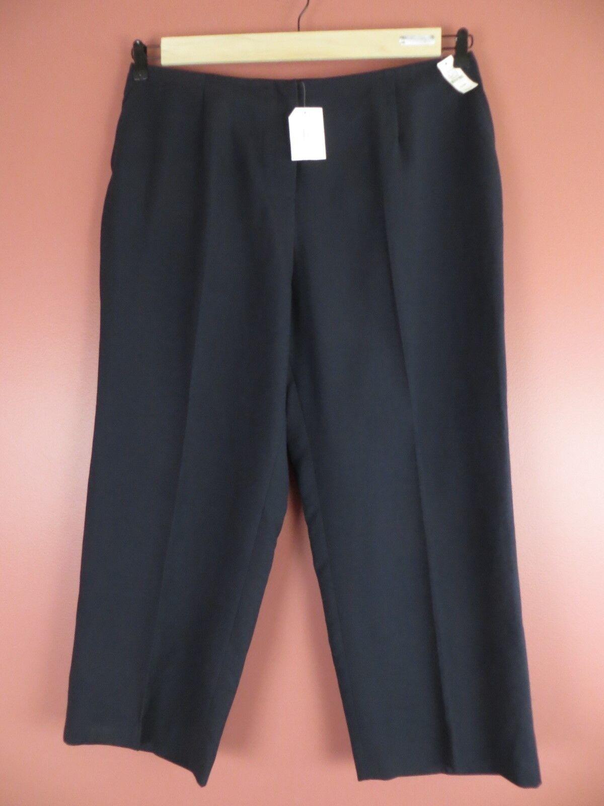 PNS0960-NWT TALBOTS Women Classic Cotton Lyocell Dress Pants Navy bluee 22WP  136
