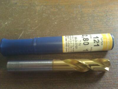 .4646 11.8mm HSCO TiN COATED SCREW MACHINE LENGTH DRILL