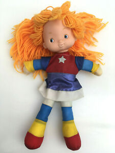 Rainbow-Brite-Vintage-039-80-039-s-Doll-Collectibles-Yarn-Hair-Removeable-Dress-12-034
