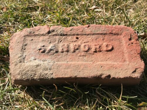 1922 Antique Clay Brick SANFORD BRICK Co of Suffolk County Long Island NY