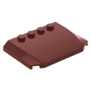 LEGO Bau- & Konstruktionsspielzeug 52031 LEGO® 1x Motorhaube 4 x 6 x 2/3 Triple Curved dunkelrot 4650155 LEGO Bausteine & Bauzubehör