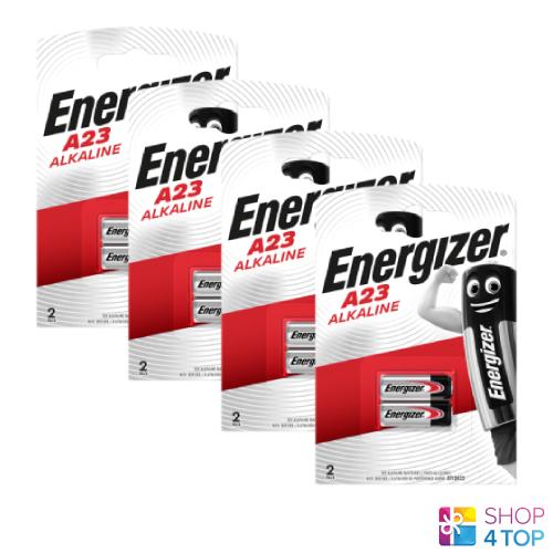 8 Energizer Alkaline a23 batteries 12v gp23 ak23a l1028 lr2 Exp 2020 2bl new