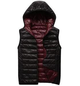 9ded2a2da winter casual Mens Ultra-light Duck Down Hooded Vest Sleeveless Coat ...