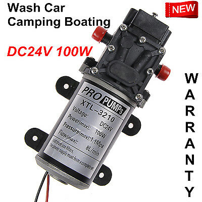 Ultra DC24V 8Lpm 100W Diaphragm High Pressure Water Pump Self-Priming WARRANTY