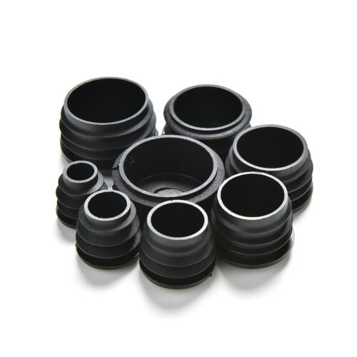 10x Black Plastic Blanking End Caps Cap Insert Plugs Bung For Round Pipe Tube VN