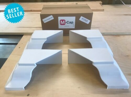 4 M-Cap Gutter End Caps paintable 2 Left//2 Right White Residential