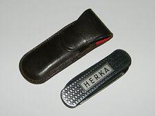 Herka,Reklame,Werbung,Etui,Klein,Taschenmesser,Mini,Messer,Uhrmacher,Vintage