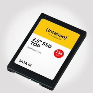 "INTENSO SSD 256GB 2,5"" Zoll 6,4cm MLC SATA600 Solid State Drive Festplatte neu"