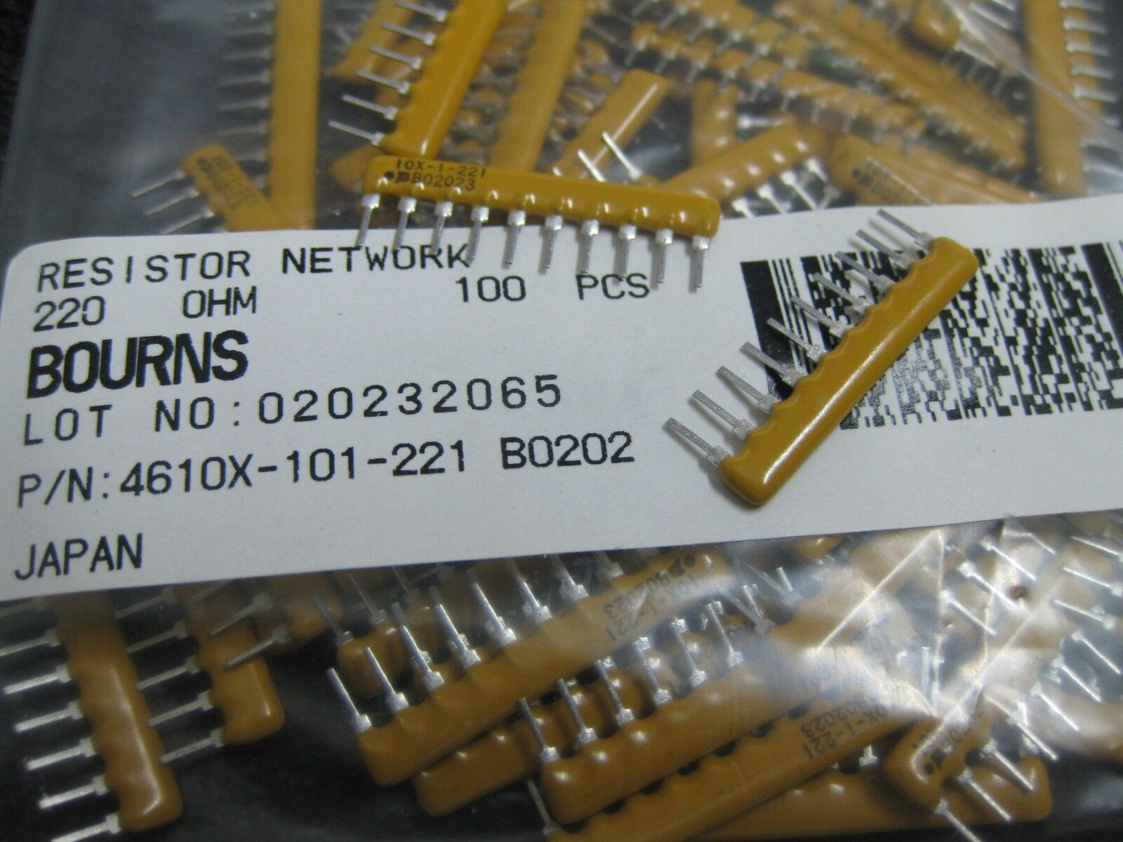 100 pieces Resistor Networks /& Arrays 8Term 100ohms 5/% Convex