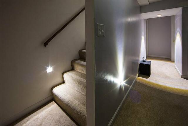 1 Stair Wardrobe Automatic On LED Motion Detector Night Light, Parent Home  Gift