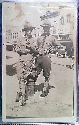 Antique RPPC Waco Texas Soldiers Mexican Border Finished by McCall
