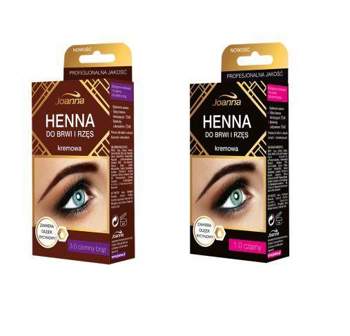 Joanna Eyebrow And Eyelash Henna Creamy 3 0 Dark Brown 15ml Ebay