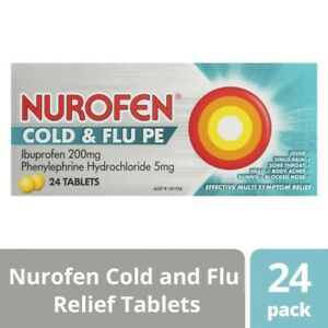 Nurofen Cold and Flu Multi-Symptom Relief Tablets 200mg Ibuprofen 24pk