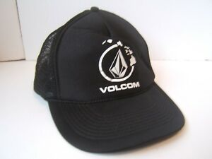 new product 0a77e d3101 ... coupon code for image is loading volcom hat black snapback trucker cap  e632b 1ef77