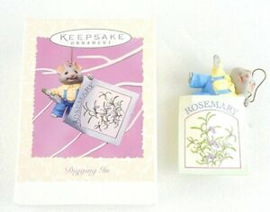 Hallmark-Keepsake-Easter-Digging-In-1997-Spring-Collection-NEW-Mouse-in-Rosemary