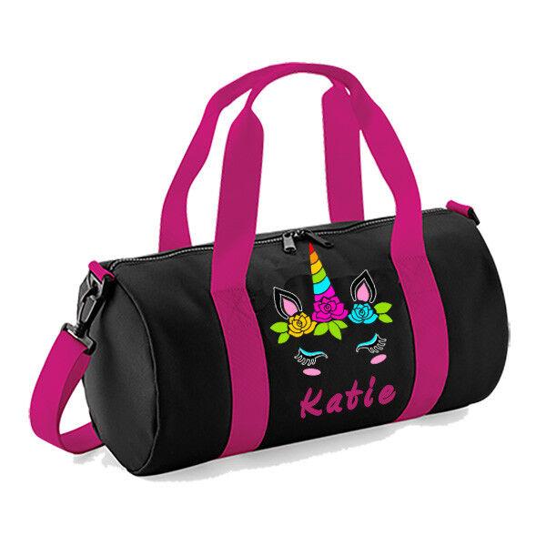 Personalisiert Personalisiert Personalisiert damengirls Kinder Einhorn Tanztasche Rosa Ballettschuh Gymnastik 7013f4