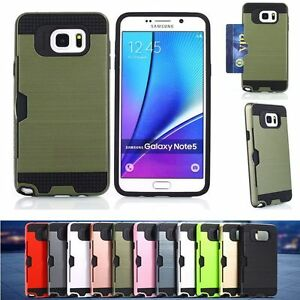 Shockproof-Hybrid-Brushed-Hard-Card-Case-Cover-for-Samsung-galaxy-Note-5-N9200