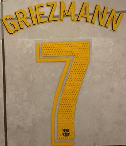 Flocage Nameset GRIEZMANN  #7 Barca 2020-2021 Domicile. La Liga.