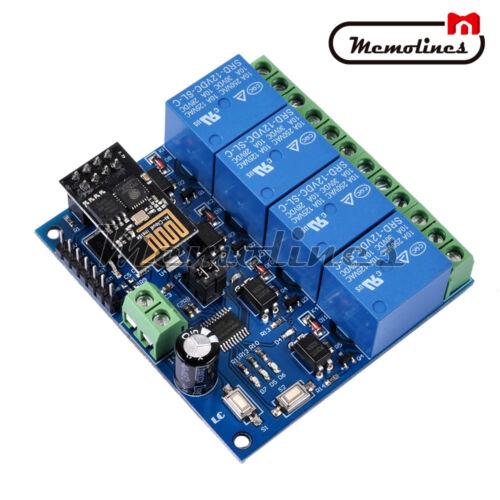 12V ESP8266 ESP-01 4-Channel WiFi Relay Module For Smart Phone APP Controller