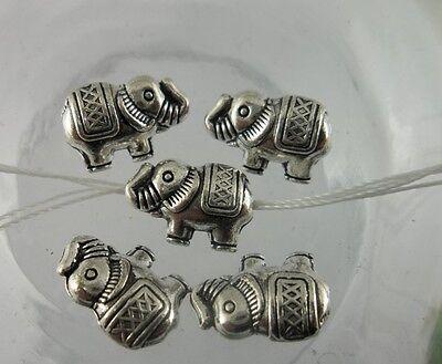 Tibetan silver  elephant charms bead  13x8.5mm