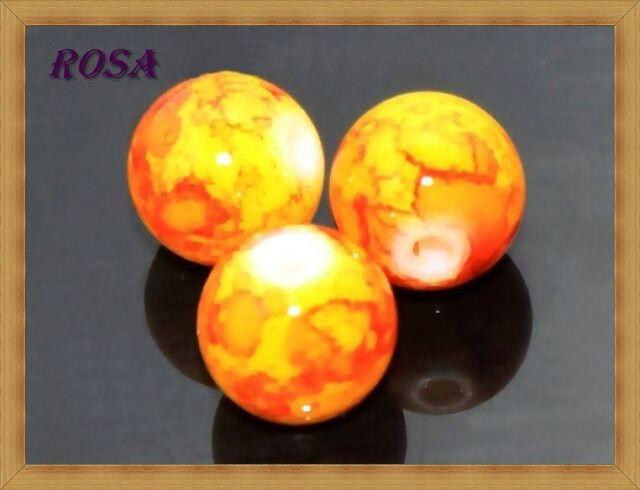 K3240-59 Glasperlen Beschichtete Perlen Multi-farbigen 9 Fabren Kugeln 8-10-12mm