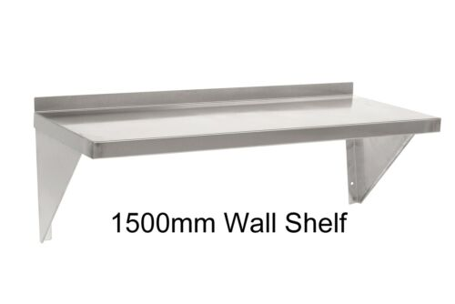 New Commercial Catering Kitchen Stainless Steel Wall Shelf 4.92 ft 1.5 Metres