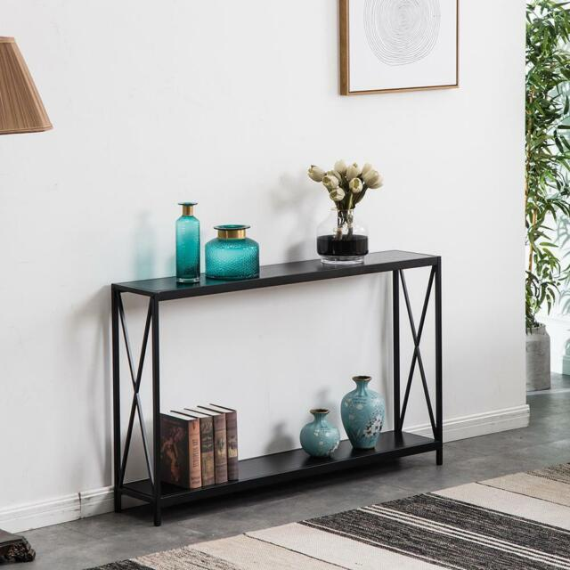 Hallway Entry Table Storage Shelves Entryway Console Display Rack Home 4 Colors