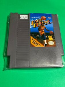 🔥 💯WORKING NINTENDO NES GAME CARTRIDGE - MAGIC JOHNSON FAST BREAK BASKETBALL