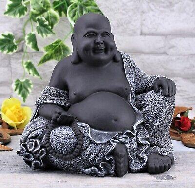 Buddha Glücks Buddha Figur sitzend Feng Shui Skulptur Statue Innenraum Dekoratio