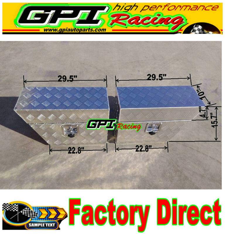 """Pair Aluminium Undertray Under Tray Underbody Ute Tool Box toolbox 24/""""x10/"""" x16/"""""""