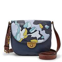 Fossil Women's Emi Saddle Bag Blue Multi Zb6852403