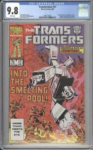 Marvel-Comics-TRANSFORMERS-17-CGC-9-8-NM-1986-White-Pages