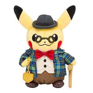 Muneco-de-peluche-de-Pokemon-Center-Original-Limitada-Caballero-Pikachu-Japon-oficial