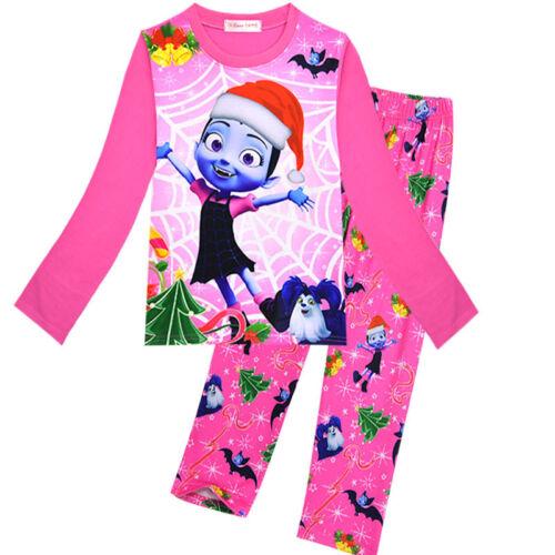 Kid Girl Vampirina Pyjamas Casual Cartoon Nightwear Sleepwear Leisure Party Set