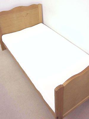 BOYS&GIRLS COT BED FLANNELETTE COTTON WATERPROOF MATTRESS PROTECTOR WHITE