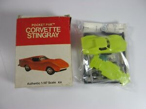 RARE-New-Entex-Pocket-Pak-Corvette-Stingray-8217-1-87-Scale-Kit-Made-In-Japan