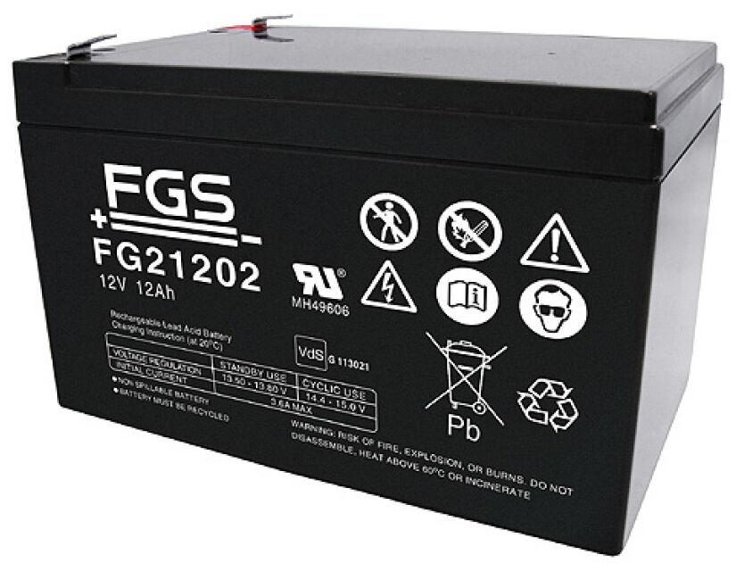 Fiamm     FGS FG21202 12V 12Ah Faston 6,3mm LC-RA1212PG1 Powerfit S312 12SR | Kaufen  de9b2b