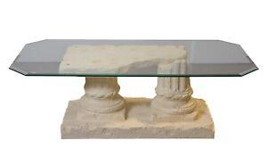 Rechteckiger Glastisch Wohnzimmertisch Couchtisch Marmor Couchtisch