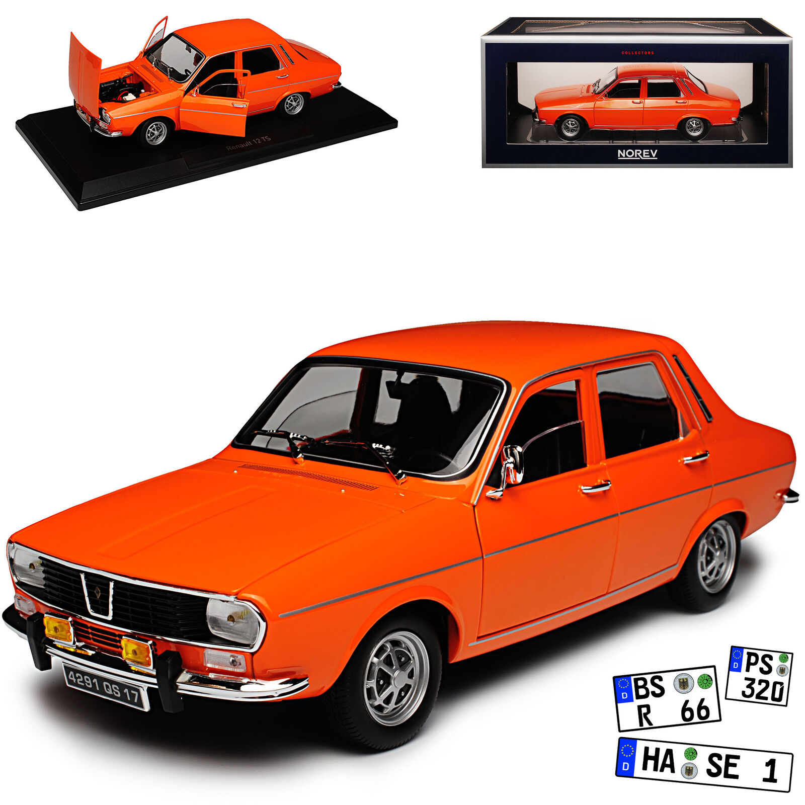 Renault 12 TS Saloon orange 1969-1980 1 18 Norev Model Car with or without...
