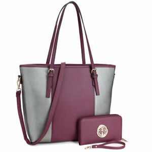 Dasein-Women-Handbag-Set-Faux-Leather-Tote-Bags-Large-Shoulder-Purse-with-Wallet