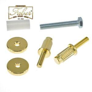 3116-2 Faber iNsert-GG Bridge Stud//Adapter Gold Plated Glossy ein Paar