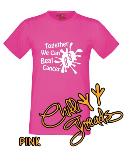 T-shirt race Vest T-shirt love for family life Together We Can Beat Cancer