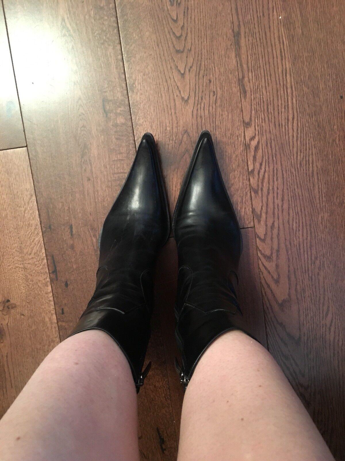 Western para Tobillo Botas De Vaquero Negro para Western Mujer Talla 38,5 2b6db4
