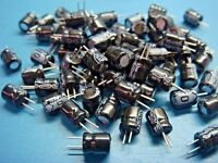 (800+) Qvs 10uf 50v 85°c Radial Aluminum Electrolytic Capacitor 6mm X 8mm