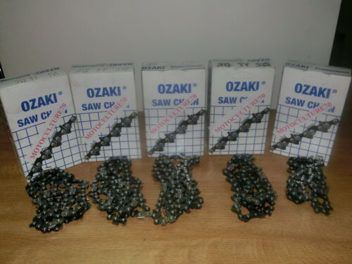 5 CHAINES  TRONCONNEUSE OZAKI 3/8.LP 1.1 35 ENTRAINEURS