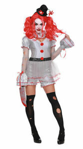 Dreamgirl-Wicked-Clown-IT-Style-Sexy-Adult-Women-039-s-Halloween-Costume-XS-XL