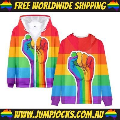 Pride Flag *FREE WORLDWIDE SHIPPING* Gay Rainbow Hoodie LGBT